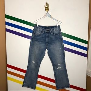 NEW Levi's 517 cropped bootcut orange tab jeans